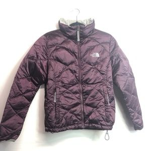 The North Face purple quilted 550 jacket